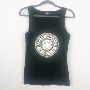 Harley Davidson | Black Tank with Silver Graphic